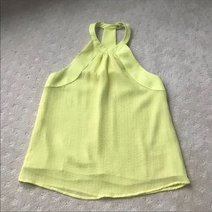 H&M Icy Lemon Yellow Dressy Halter Top
